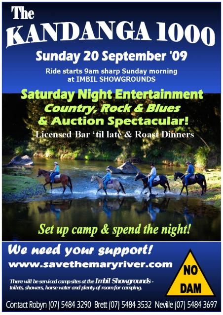 Kandanga 1000 Horse Rally - 19&20th September   (a spectacular event!)